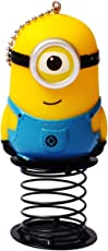 FameUs Minions Bobble/Wobble - Rubber & Metal Car Dashboard Accessory Yellow & Blue Color - 4.5 x 2 x 2 (Inches)