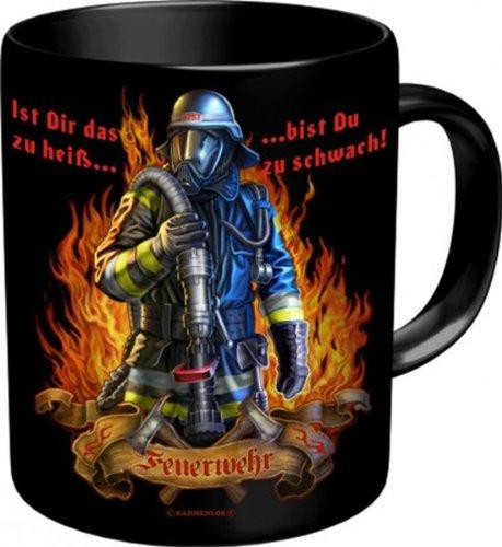 Rahmenlos Tassen - Master Artikel - Alle verschiedenen Motive zum auswählen - BESTSELLER:, Rahmenlos Tassen:Tasse Feuerwehr heiss 2563 - Feuerwehr heiss