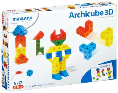 Imagen principal de Miniland 95004 Archicube - Juego de cubos de construcción [Importado de Alemania]