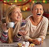 iNeibo Teesieb aus Rostfreiem Edelstahl und Lebensmittel Silikon, hübsches Teeei mit dem Auffangbehälter für lose Tee (3er-Set Grün/Pink/Orange) Test