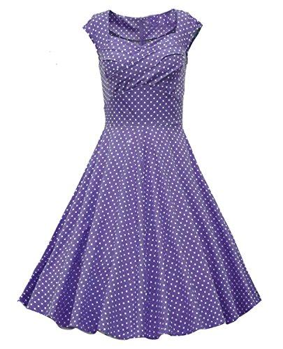 Dissa M113318D Vintage pin-up 50's robe de soirée,bal cocktail Rockabilly Swing,S-XXL Violet