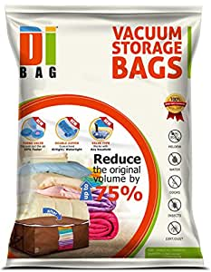 DIBAG ® Jumbo Stackable Tote -Fabric cube (65*50*27)cm+ vacuum storage cube (70*50*90)cm