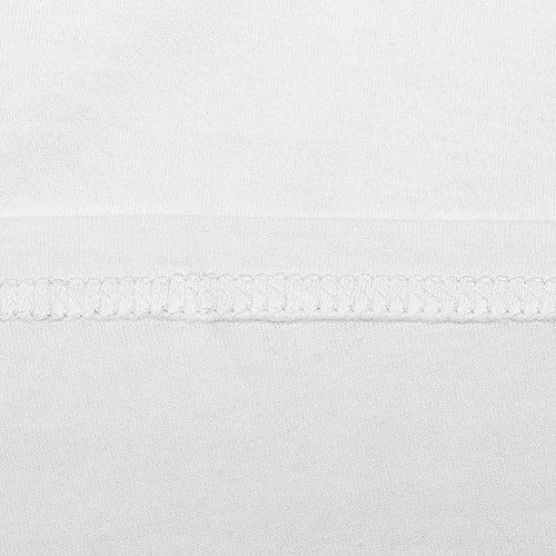 Court T-shirt à manches Blouse Blanc - Blanc