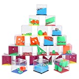 Sporgo 24 Pezzi Puzzle Gioco Mini Puzzle,Puzzle Labirinto 3D Calendario Dell'avvento Puzzle di Compleanno per Bambini Giochi di Abilità per Bambini,Giochi di Puzzle per Omaggi per Bambini
