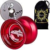 Duncan BARRACUDA Metall Schmetterling geformt Yoyo - höchste Qualität Mittel Yo yo für Profis + Lernen DVD + Reise Tasche! Ideales Yo-Yo für Wettbewerbe und 1A Tricks