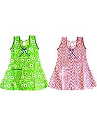 Popcorn Girls Cotton Frock Combo Pack (New Arrival frocks for kids) Sleeveless