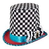 Bristol Novelty, BH652 - cappello a cilindro del Cappellaio Matto a quadretti, multicolore, taglia unica