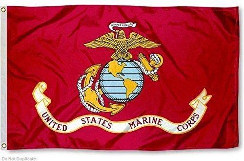 3x 5Marines Marine Corps EGA Flagge 3'x5' Banner Tüllen (von USMC) doppelt genähte 2Metall eyelits von rfco -