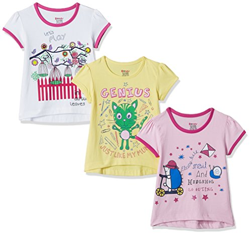 Donuts Baby Girls' T-Shirt (Pack of 3) (272516684_Assorted_18M)
