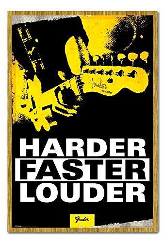 fender-harder-faster-louder-poster-sughero-pin-lavagnetta-rovere-con-cornice-965-x-66-cms-circa-965-