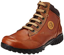Redchief Mens Glossy Tan Leather Trekking and Hiking Footwear Shoes - 6 UK (RC2583 287)