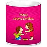 Saltine Rakhi Gift For Raksha Bandhan, Rakhi Ceramic Coffee Mug,Rakhi Gift For Brother, Birthday Special Gift, Bhaiyadooj Gift Item,Happy Raksha Bandhan Brother Sister Design