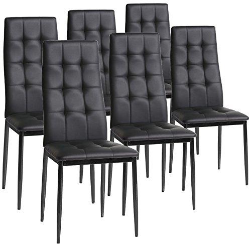 Set di 6 sedie Sophia da pranzo, nero