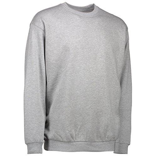 Rex & Holm ID0600 Klassisches Damen und Herren Sweatshirt Grau Meliert