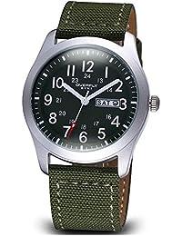JIANGYUYAN para hombre único reloj de cuarzo Casual Fashion analógico reloj de pulsera clásico calendario impermeable