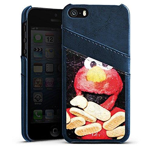 Apple iPhone 4 Housse Étui Silicone Coque Protection Oliver Rath Elmo Sesamstraße Étui en cuir bleu marine