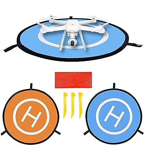 Drone Landing Pad pour DJI Mavic Pro Héliport, Rampe de lancement du Triple Arbre 75cm/76,2cm, parfait pour DJI Spark, Mavic Pro, Phantom 234Inspire 1, 3DR Solo Drone, Parrot drones, Antel Robotic X-star, Syma, Hubsan, Saint Pierre, UDI drones etc. 75cm