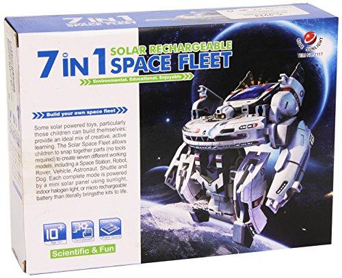 CEBEKIT - Kit Juguete Didactico Educativo 7X1 Solar Space Fleet C-9924
