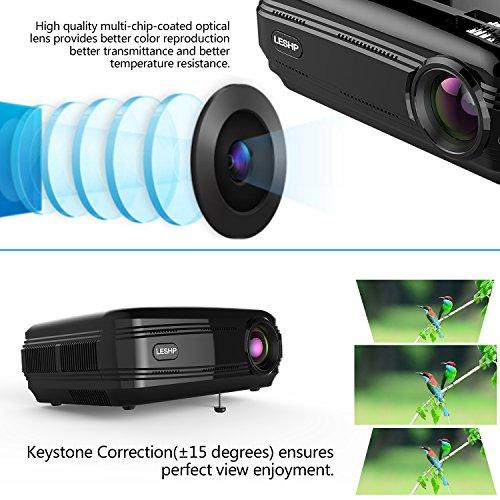 Fastfox Hd Projector Full Color 720p 3000 Lumens Analog Tv: LESHP 3300 Lumens Full HD 1080P Projector, LED+LCD Home