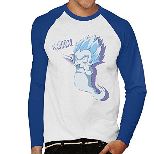 Kaboom Dargon Ball Z Men's Baseball Long Sleeved T-Shirt White/Royal
