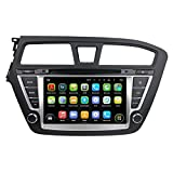 8 Zoll 2 Din Quad Core 1.6G CPU Android 5.1.1 Lollipop OS Autoradio für Hyundai I20(2014-2015) Linkslenker,kapazitiver Touchscreen mit 16G Flash und 1G DDR3 RAM GPS Navi Radio DVD Player 3G/WIFI Aux Input OBD2 USB/SD DVR