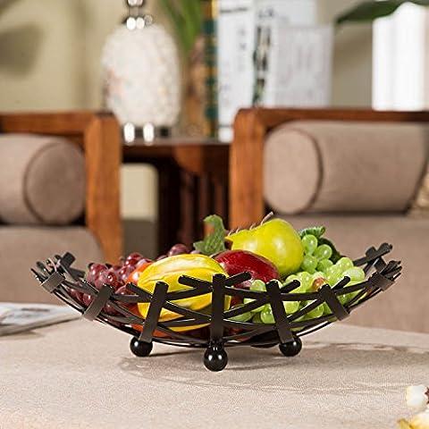 Wohnzimmer Frucht-Platten-Eisen-Frucht-Korb-Nest-Ansatz-Art- und Weisebonbon-Dose ( farbe : Schwarz )