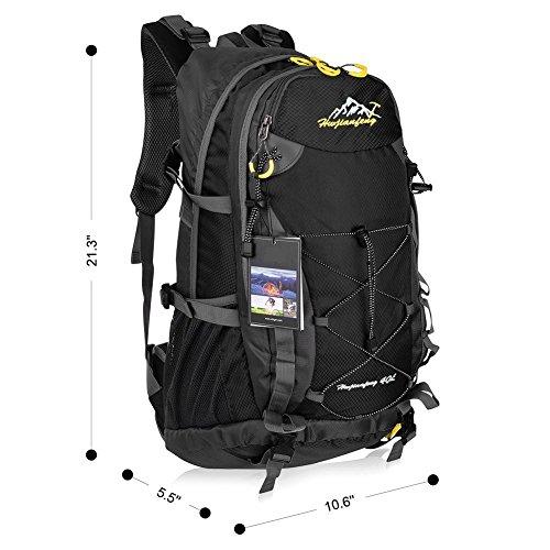 Imagen de macbag  de excursión resistente al agua daypack 40l 55l para camping, trekking y escalada negro, 40l  alternativa