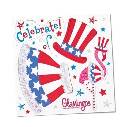 Silvestri Glamingo Flamingo Patriotisches Kostüm Magnetfolie