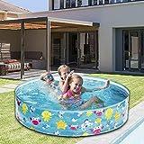 122 25 cm Runden Pool, Hartplastik Pool Wand Familie Planschbecken für Kinder Spielen...
