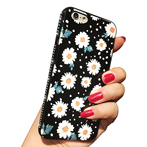 Custodia iPhone 7 Plus, iPhone 7 Plus Cover Silicone, SainCat Cover per iPhone 7 Plus Custodia Silicone Morbido, Bling Glitter Strass Diamante 3D Design Ultra Sottile Silicone Case Ultra Slim Sottile  Margherita