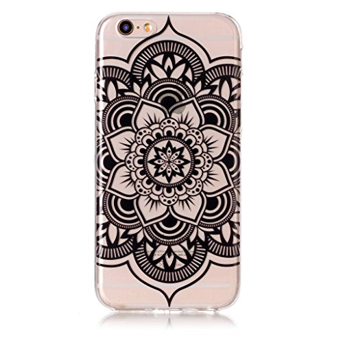 """Coque pour iPhone 6S Plus / 6 Plus , IJIA Transparent Fleurs De Peinture à L'huile TPU Doux Silicone Bumper Case Cover Shell Housse Etui pour Apple iPhone 6S Plus / 6 Plus (5.5"""") S1"""