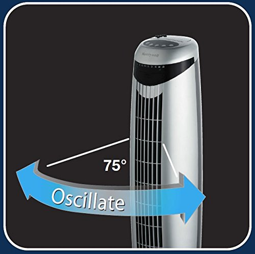 Honeywell HO-1100RE Oscillating Tower Fan with Remote Control – Chrome