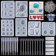 Molde de Joyas Silicona 146 PC, 6 Delfí LOVE Ranillo de Molde Silicona+ 100 piezas