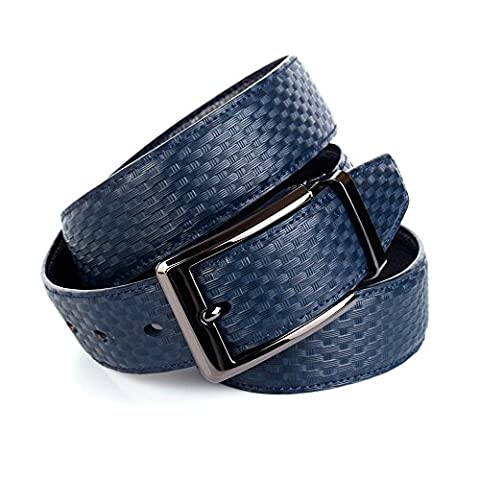 Anthoni Crown Men's A3QT80 Belt, Blau (Blau 080), M