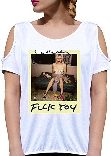 T SHIRT JODE GIRL GGG27 Z2967 FUCK TOY GIRL PARTY DRUNK POLAROID PICTURE VINTAGE FASHION COOL BIANCA - WHITE