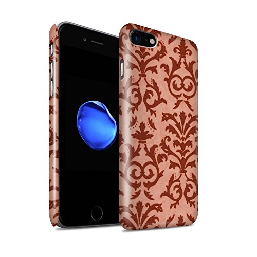 STUFF4 Glanz Snap-On Hülle / Case für Apple iPhone 8 / Blau Muster / Blättern Sie Muster Kollektion Rot