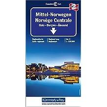 Kümmerly & Frey Karten, Mittel-Norwegen Blatt 2. Oslo, Bergen, Alesund. Mit touristischen Informationen.