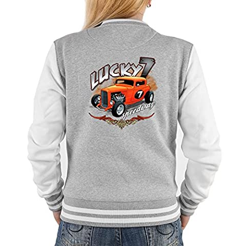 Lady Jacke ::: Lucky 7 Speedway for Cars ::: mit USA Motiv auf der Rückseite
