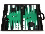 Set di Backgammon Premium da 48 x 64 cm - Scheda Nera con punti bianchi e neri