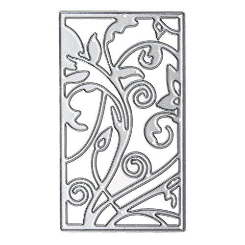 mikolot Flower Vine Rahmen Metall Schablone DIY Scrapbook Stickerei Schneiden sterben (Vine Maker)