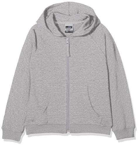 James & Nicholson Jungen Sweatshirt Hooded Jacket Junior, Grau (greyheather), Large (Herst Preisvergleich
