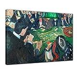 Leinwandbild Edvard Munch at The Roulette Table in Monte Carlo - 120x90cm quer - Keilrahmenbild Bild auf Leinwand Gemälde