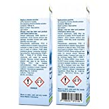 Biotraxx Wasseraufbereiter CLASSIC 1:1 Set 1x Natriumchloritlösung + 1x Aktivator, Salzsäure 5% (2x 100 ml) im hochwertigen Violettglas - 3