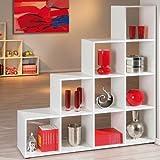 Ed Hardy LUCY divisorio, livelli scaffale, scaffale, 10 scomparti, bianco, 138,5 x 143,5 x 33 cm