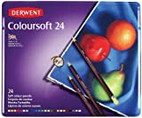 Derwent Coloursoft Colouring Pencils Tin - Set of 24
