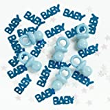 New Baby/Baby Shower Blue Confetti Sprinkles with Plastic Dummies