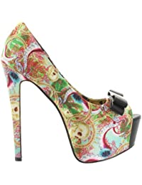 Iron Fist - Zapatos de vestir de material sintético para mujer multicolor