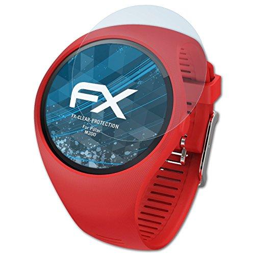 atFoliX Schutzfolie kompatibel mit Polar M200 Folie, ultraklare FX Displayschutzfolie (3X)