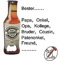 Flaschenöffner Bester Papa, Opa, Onkel, Patenonkel / Sie entscheiden für wen diese Flaschenöffner ist / Individualisierbar / Auch mit Name
