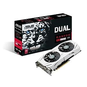 Asus AMD Radeon DUAL-RX480-O8G 8 GB Gddr5 256 Bit Memory PCI Express 3 DVI/HDMI/DisplayPort Graphics Card - Black
